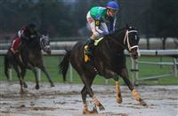 It's Uncontested all alone in the sloppy Smarty Jones