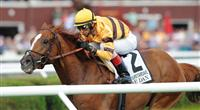 Wise Dan and jockey John Velazquez win the Grade 2, $500,000 Fourstardave Handicap at Saratoga Race Course.