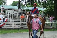 Hanna Can Fly running in a stake race at Belmont Park