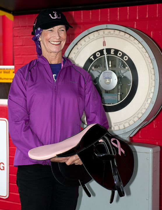 Barbara Jo Rubin, the first female rider to win a pari-mutuel race against her male counterparts will ride Keep Momma Happy in the The Lady Legends for the Cure IV Race at  Pimlico Race Course on Friday, May 17.