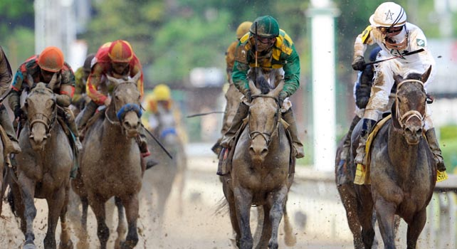 Calvin Borel wins his third Kentucky Derby in four years.