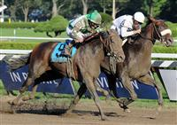 Colonel John outlasts Mambo in Seattle in the 2008 Travers