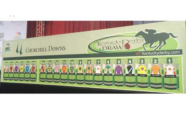 Kentucky Derby 2014 post position board.