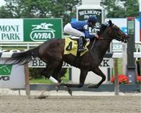 Flawless breaks maiden at Belmont Park.