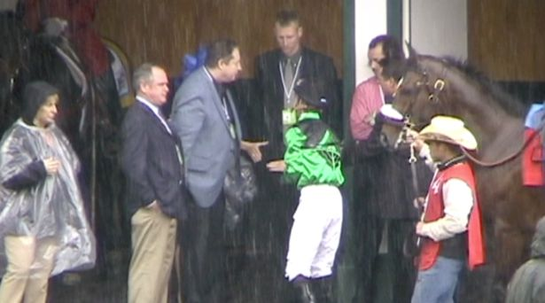 2013 Kentucky Derby rain