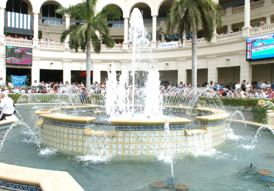 Gulfstream Park fountains
