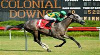 Paddy O'Prado wins 2010 Colonial Turf Cup.