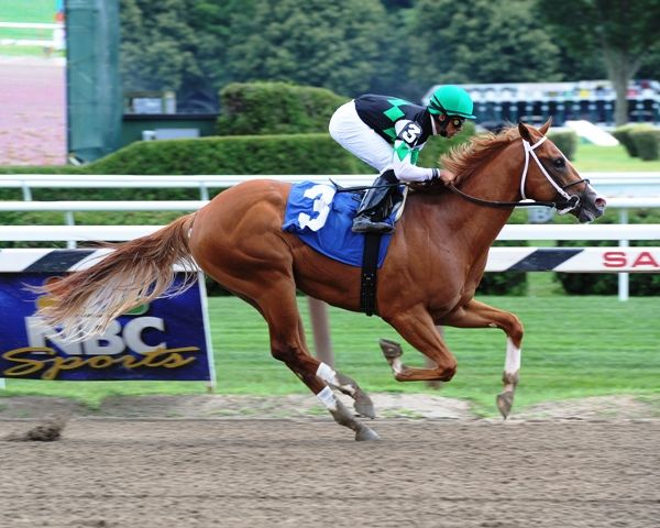 J C's Pride sets track record at Saratoga (7-27-11).