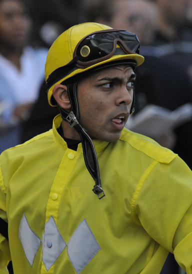 Jockey Jermaine Bridgmohan