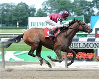 Kinda Spicy breaks maiden at Belmont (6-19-11)