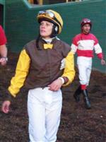 NICOLE SHINTON: apprentice jockey @ Santa Anita Park.