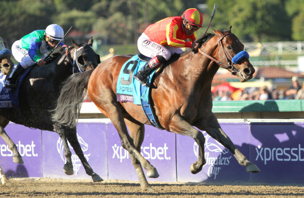 Secret Circle wins the Breeders' Cup Sprint
