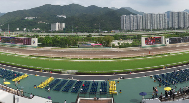 Sha Tin race course in Hong Kong
